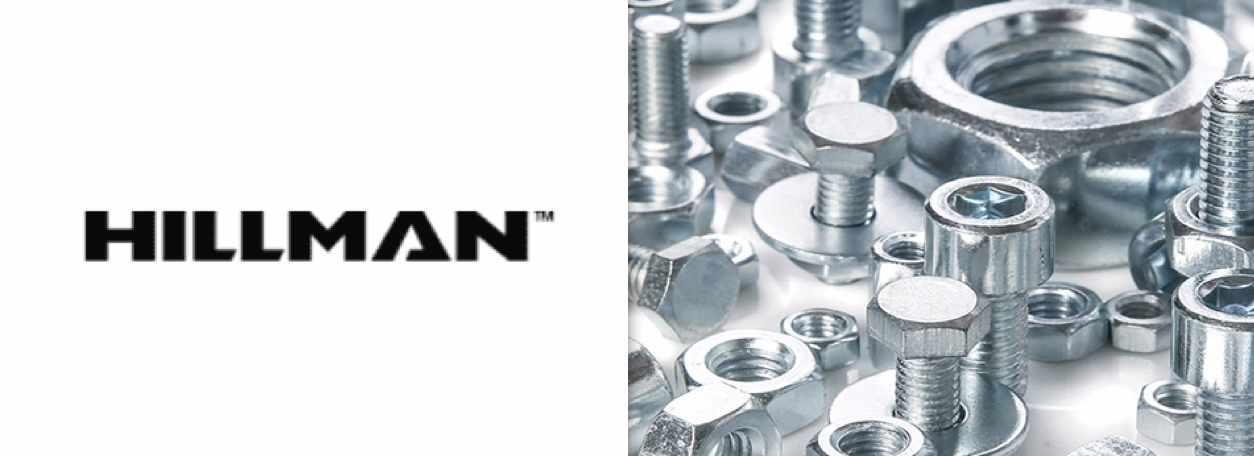 Hillman fasteners with Hillman logo