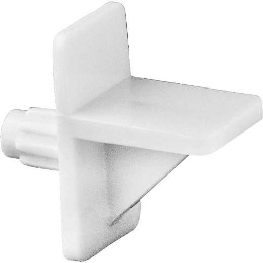 National 159 1/4 In. White Plastic Shelf Support (8-Count)