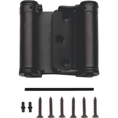 National 3 In. Oil Rubbed Bronze Double-Acting Spring Door Hinge