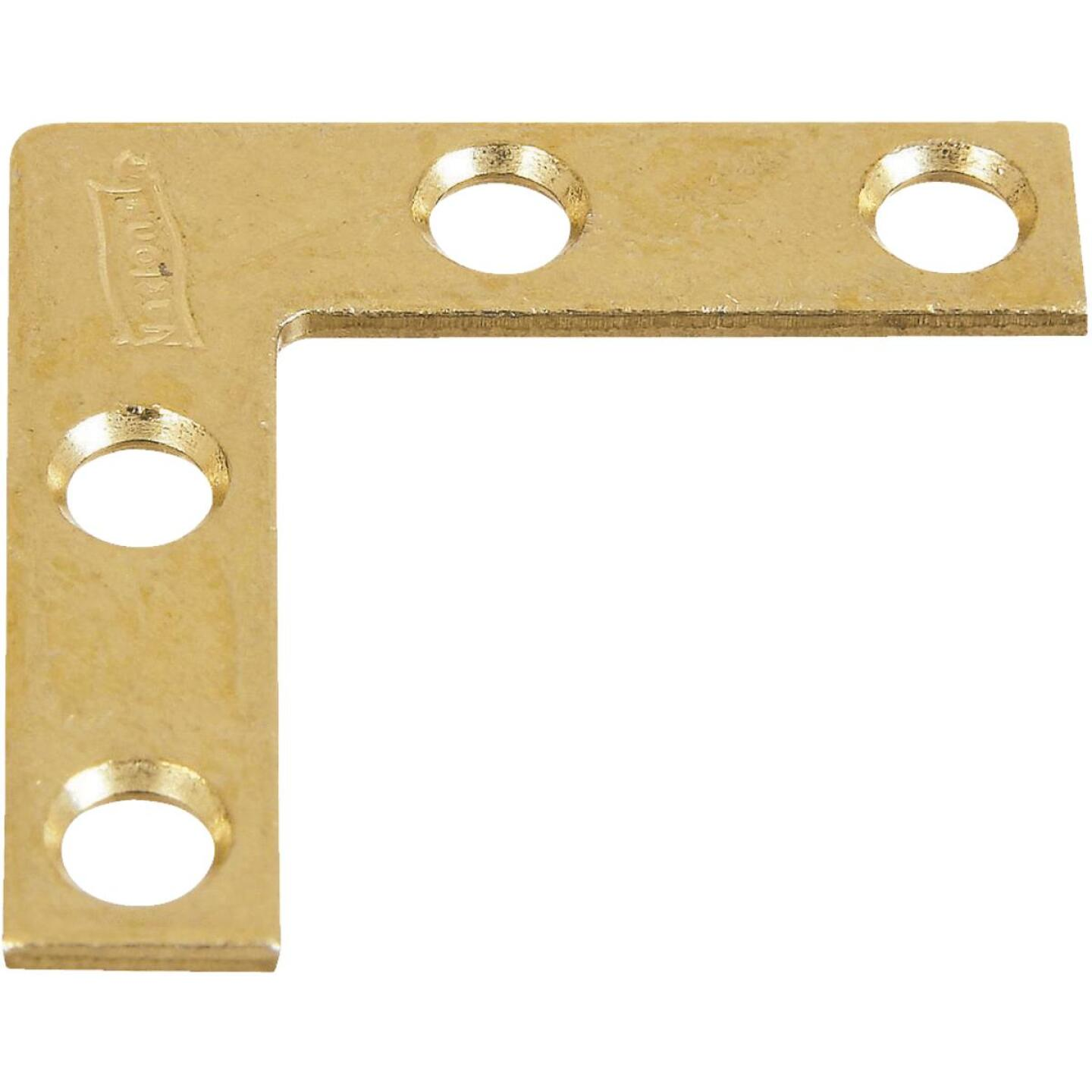National Catalog 117 1-1/2 In. x 3/8 In. Brass Flat Corner Iron (4-Count) Image 1