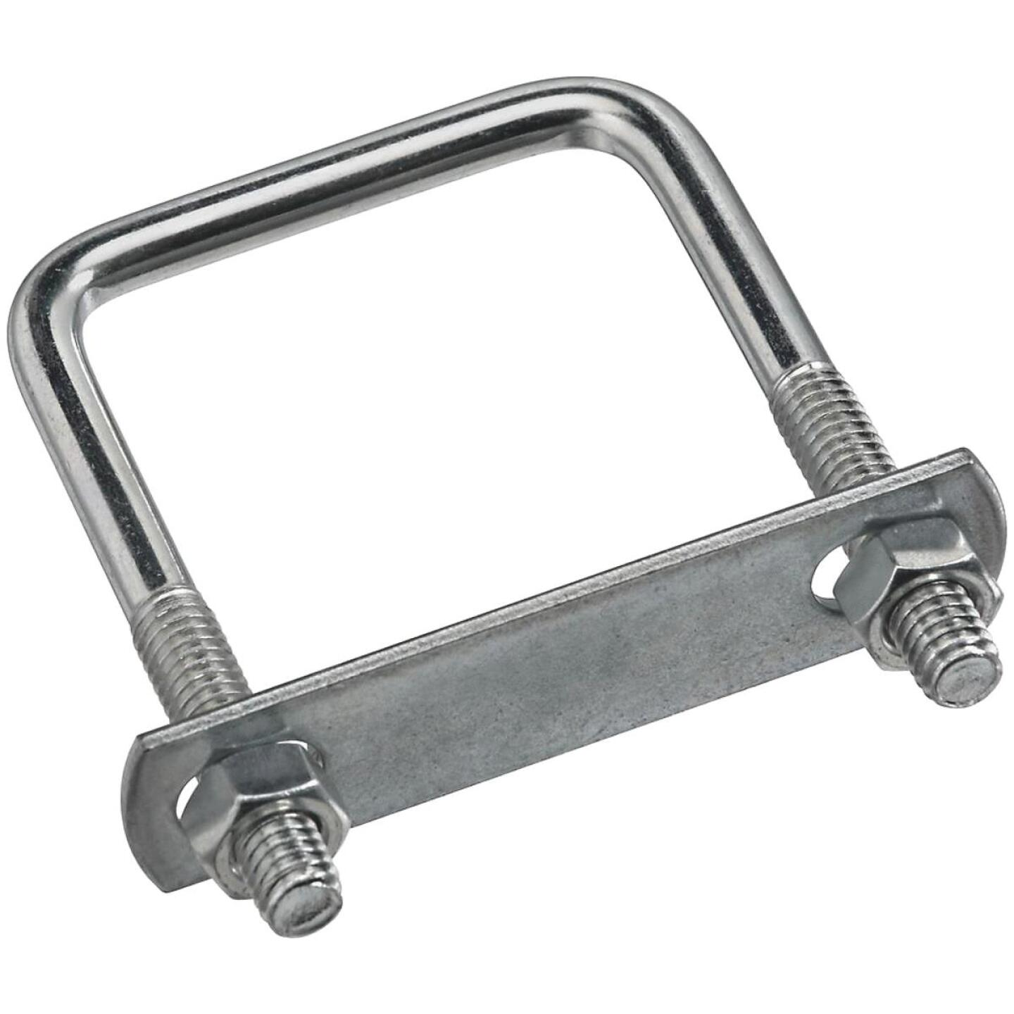 National 5/16 In. x 2 In. x 3 In. Zinc Square U Bolt Image 1