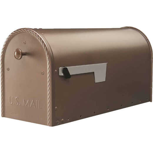 Gibraltar Edwards Venetian Bronze Steel Post Mount Mailbox