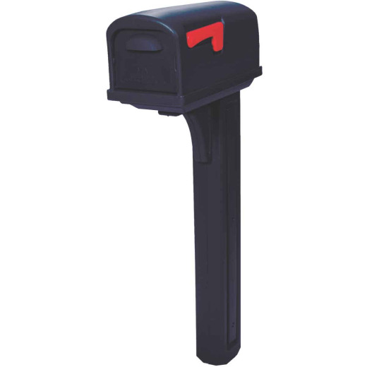 Gibraltar Classic Black Mailbox & Post