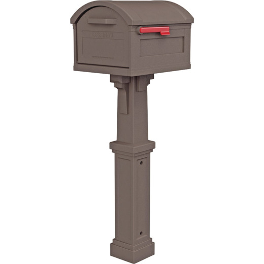 Gibraltar Grand Haven Mocha All In One Mailbox