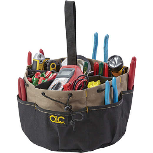 CLC 18-Pocket Drawstring Tool Bucket Organizer