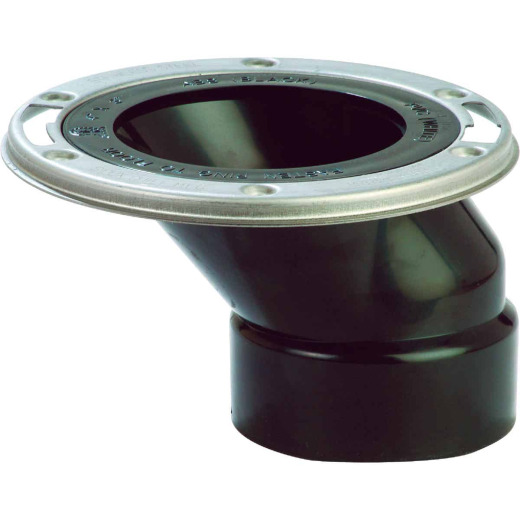 Sioux Chief FullFlush 3 In. Hub/Inside 4 In. ABS Offset Toilet Flange w/Stainless Steel Swivel Ring