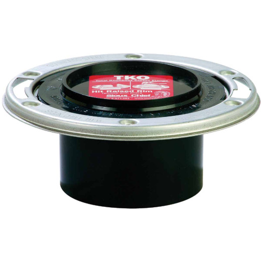 Sioux Chief Total Knockout 3 In. Spigot ABS Toilet Flange w/Stainless Steel Swivel Ring
