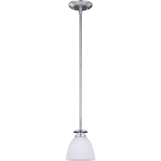 Home Impressions 1-Bulb Brushed Nickel Incandescent Pendant Light Fixture, Clear Glass