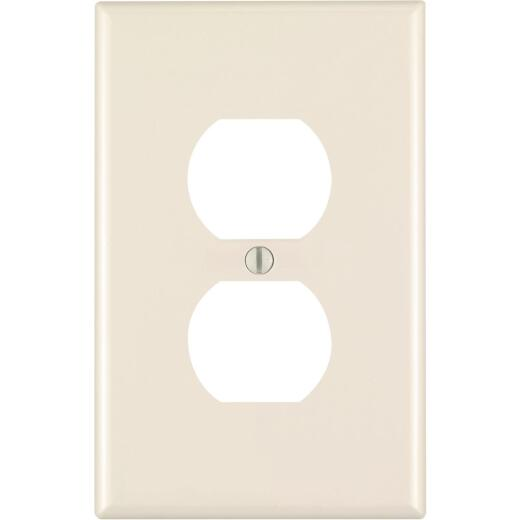 Leviton Mid-Way 1-Gang Thermoplastic Nylon Outlet Wall Plate, Light Almond