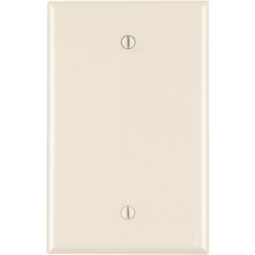 Leviton 1-Gang Mid-Way Thermoplastic Nylon Blank Wall Plate, Light Almond