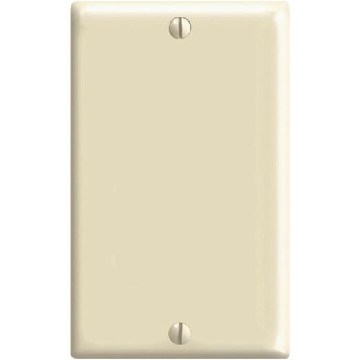 Leviton 1-Gang Mid-Way Thermoplastic Nylon Blank Wall Plate, Ivory