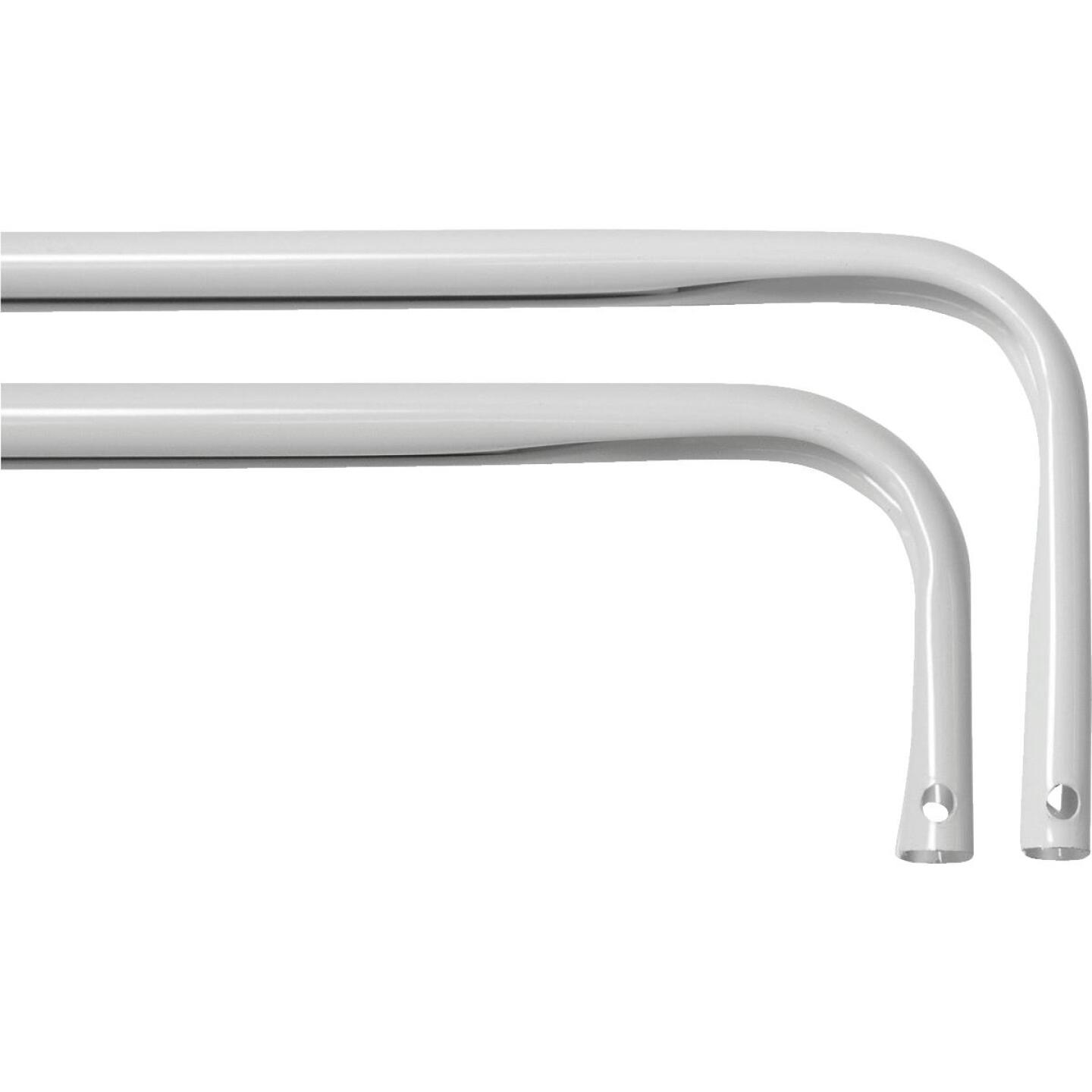 Kenney 48 In. To 86 In. 2 In. Double White Curtain Rod Image 1