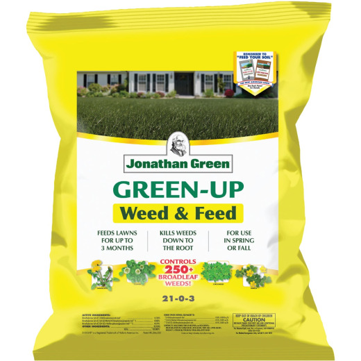 Jonathan Green Green-Up Weed & Feed 16 Lb. 5000 Sq. Ft. 21-0-3 Lawn Fertilizer with Weed Killer