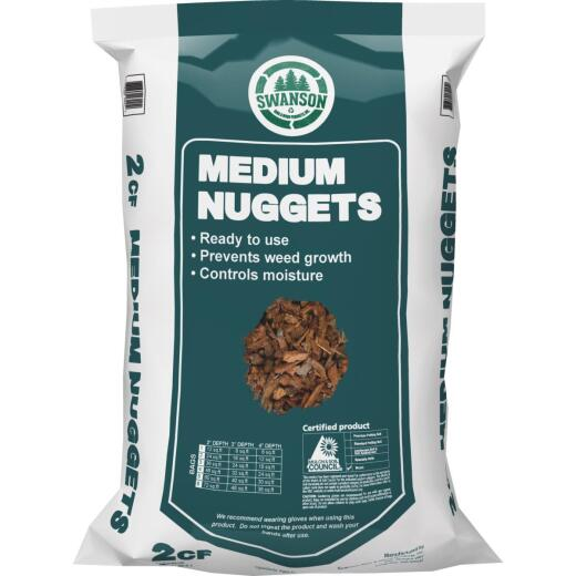 NuLife 2 Cu. Ft. Medium Bark Nuggets
