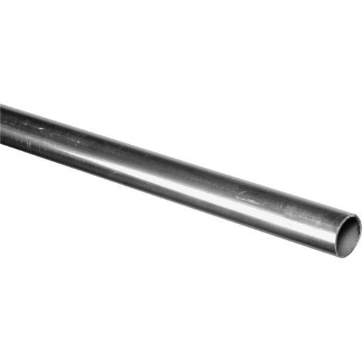 HILLMAN Steelworks Aluminum 3/4 In. O.D. x 4 Ft. Round Tube Stock