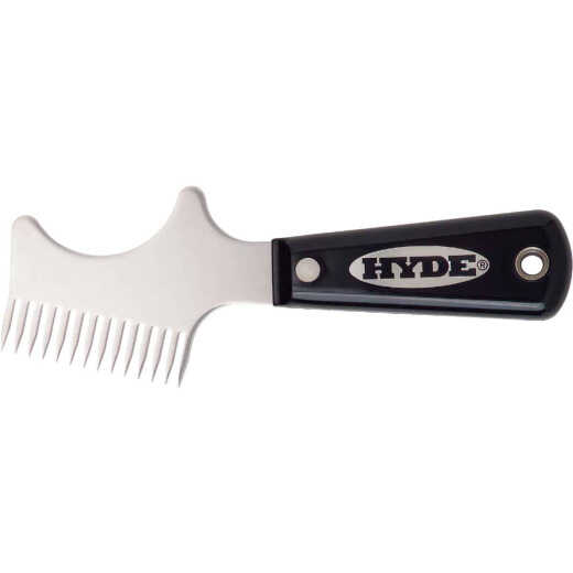 Hyde Black & Silver Stainless Steel Brush & Roller Cleaner