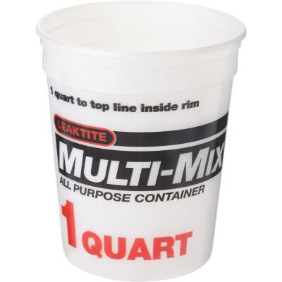 Leaktite 1 Qt. Multi-Mix All Purpose Mixing And Storage Container