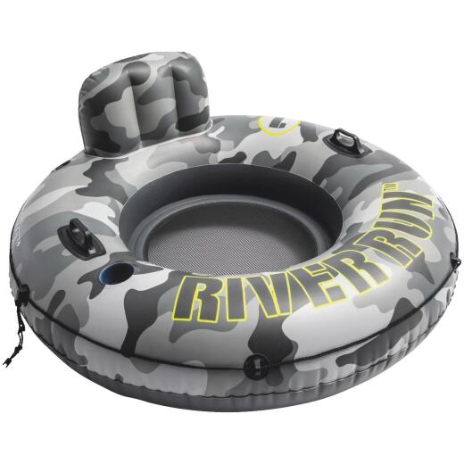 Intex River Run 53 In. Dia. Tube Float, Gray & Black Camo